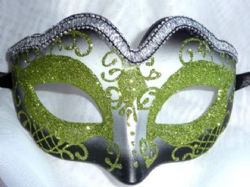 Lime Green & Silver Mini Petite Mask